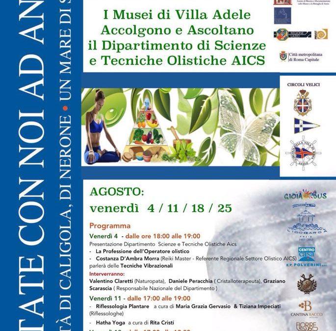 Le discipline olistiche AICS ospiti ad E- state con noi ad Anzio