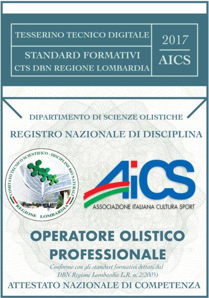 Tesserino tecnico digitale AICS e CTS DBN Regione Lombardia